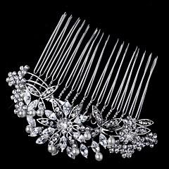 Vrouwen / Bloemenmeisje Sterling zilver / Kristallen / Licht Metaal Helm-Bruiloft / Speciale gelegenheden Haarkammen / Bloemen 1 Stuk