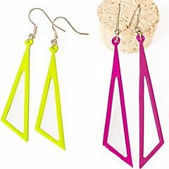 Fashion Pierced Colour Triangular Earrings