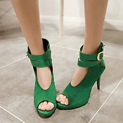 Women's Shoes  Stiletto Heel Peep Toe Sandals Wedding/Party & Evening Black/Green/Red/Beige