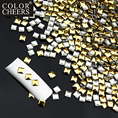 50PCS Golden & Silver Mixed Rivet Nail Art Decorations