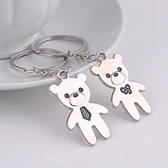 Wedding Keychain Favor [ Pack of 2Piece ] Non-personalised With Cartoon Bear