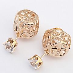 Women's Fine Fashion  Hollow-out Pentagram Pattern Stud Earrings With Rhinestone