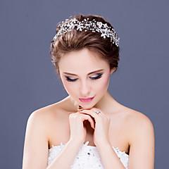 נשים / נערת פרחים ריינסטון / קריסטל / סגסוגת כיסוי ראש-חתונה / אירוע מיוחד / קז'ואל סרטי ראש חלק 1 ברור עגול