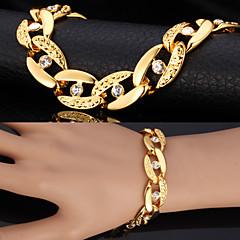 Heren Armbanden met ketting en sluiting Vintage Armbanden imitatie Diamond Modieus Opvallende sieraden PERSGepersonaliseerdStrass Platina