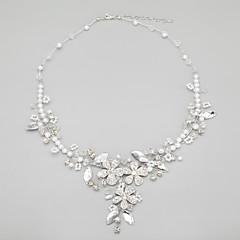 Damen Halskette Jubiläum/Hochzeit/Verlobung/Geburtstag/Geschenk/Party Kristall/Künstliche Perle Legierung/Künstliche Perle