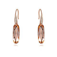 Women's Cubic Zirconia/Elegant Rose Gold Alloy Drop Earrings