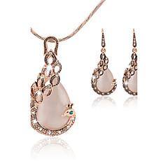 Šperky Set Barva ozdobného kamene imitace Diamond Módní Páv Zlatá Sady šperků Párty Zvláštní příležitosti Narozeniny Zásnuby Svatební dary