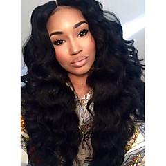 novas 10-28inch 100% corpo de onda cabelo humano brasileiro cor natural, perucas completa para as mulheres negras