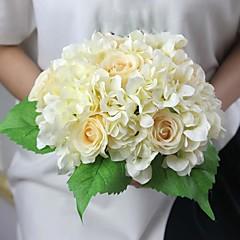 """11.4 """"h Hortensien und stieg künstliche Blume für Dekoration und Hochzeitsstrauß 1 Bund"""