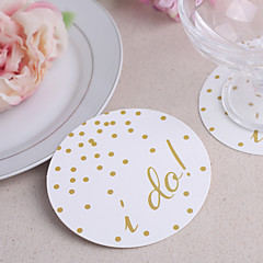 I DO Paper Coasters (set of 12)
