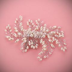 נשים פנינה כיסוי ראש-חתונה / אירוע מיוחד מסרקי שיער חלק 1