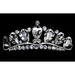 Dame Rhinestone / Krystall / Legering Headpiece-Bryllup / Spesiell Leilighet Diademer 1 Deler Rund
