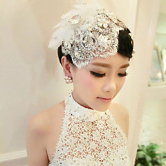 Bride's Tassel Crystal Rhinestone Forehead Wedding Headdress Hair Clip 1 PC