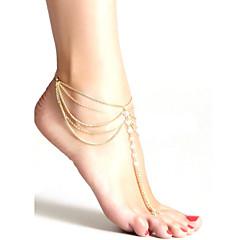 zroszony kryształ mody kobiet kitki wielowarstwowe obrączki łańcucha plaży biżuteria