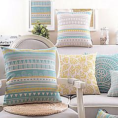 Sæt med 4 Honning Life bomuld / hør Dekorative Pillow Cover