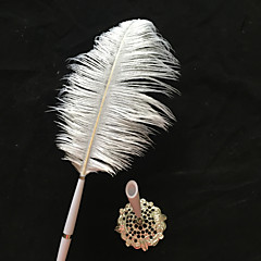 Ostrich Feather Wedding Pen Sign In Book