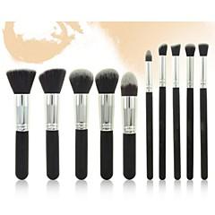 Pro 10Pcs Makeup Cosmetic Blush Brush Eyebrow Foundation Powder Brushes Kit