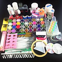 122PCS Acrylic Powder Glitter UV Gel Cleanser Primer Nail Set