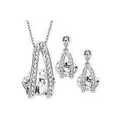Jewelry Set Women's Anniversary / Birthday / Gift / Party / Daily / Special Occasion Jewelry Sets Alloy Rhinestone Necklaces / Earrings