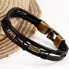 가죽 팔찌 유니크 디자인 패션 보석류 블랙 브라운 보석류 용 크리스마스 선물 1PC