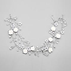 Vrouwen Bergkristal / Kristallen / Licht Metaal / Imitatie Parel Helm-Bruiloft / Speciale gelegenheden Hoofdbanden 1 Stuk Wit Rond
