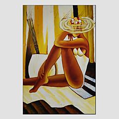 Hånd-malede MenneskerModerne / Europæisk Stil Et Panel Canvas Hang-Painted Oliemaleri For Hjem Dekoration