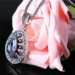 女性 ヴィンテージネックレス 合金 ファッション レッド グリーン ブルー ジュエリー パーティー カジュアル 1個