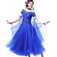 Ballroom Dance Outfits Women's Performance Spandex / Crepe Crystals/Rhinestones / Paillettes 4 Pieces 10Colors