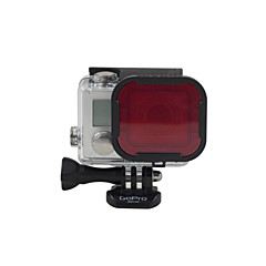 Gopro Accessories Lens Cap / Dive Filter Waterproof / Convenient, For-Action Camera,Gopro Hero 3+ / Gopro Hero 5 / Gopro Hero 4 Silver /