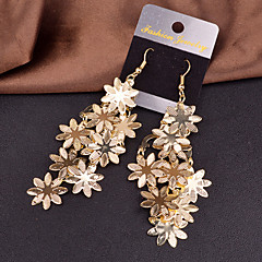 Žene Viseće naušnice Nakit sa stilom Europska Personalized kostim nakit Legura Flower Shape Jewelry Za Vjenčanje Party Special Occasion