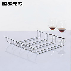 Moderner Stil Vier Row festem Eisen Wine Rack Cup Holder