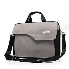 fashion grande capacidade de 15,6 polegadas maleta laptop saco impermeável alça de ombro à prova de choque para macbook / hp / sony
