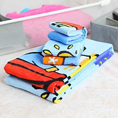 3-piece 100% Cotton Cartoon Pattern Towel Set