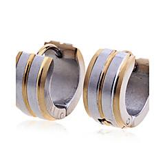 スタッドピアス 欧風 ファッション ステンレス鋼 ゴールドメッキ ゴールデン ジュエリー のために パーティー 日常 カジュアル 2 個