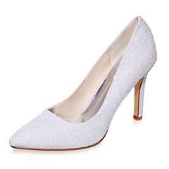 Women's Spring / Summer / Fall Pointed Toe Glitter Wedding / Party & Evening Stiletto Heel Black / Ivory / White