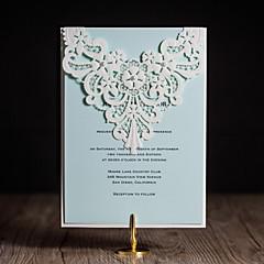 Personalizado Plegado Invitaciones De Boda Tarjetas de invitación-50 Piezas / Juego Estilo artístico / Estilo moderno / Estilo Floral