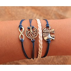 Heren Dames Armbanden met ketting en sluiting Wikkelarmbanden Uniek ontwerp PERSGepersonaliseerd Met de hand gemaakt Leder Legering
