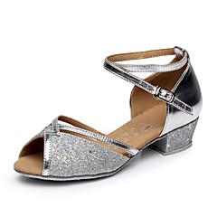 Non Customizable Women's / Kids' Dance Shoes Belly / Latin / Salsa Flocking Chunky Heel