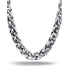 SIlver Titanium Steel 50-55cm Length Necklace for Men Christmas Gifts