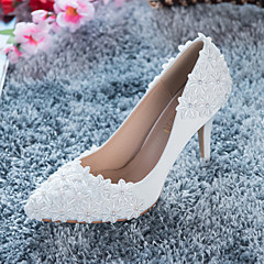 Women's Shoes Satin / Lace Spring / Summer / Fall / Winter Heels Wedding / Party & Evening / Dress Stiletto HeelApplique / Imitation