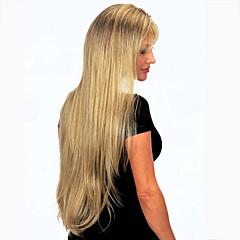 alta qualidade temperamento capless sintéticas longas perucas de cabelo retas com estrondo completa