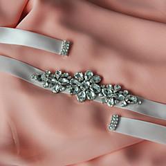 Satin Wedding / Party/ Evening / Dailywear Sash-Beading / Appliques / Rhinestone Women's 98 ½in(250cm) Beading / Appliques / Rhinestone