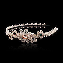 Women's / Flower Girl's Lace / Rhinestone / Alloy Headpiece-Wedding / Special Occasion Headbands 1 Piece