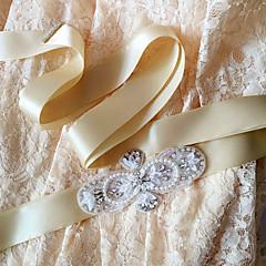 Satijn Huwelijk / Feest/Uitgaan / Dagelijks gebruik Sjerp-Pailletten / Sierstenen / Parels / Kristal / Strass Dames 98 ½ In (250Cm)