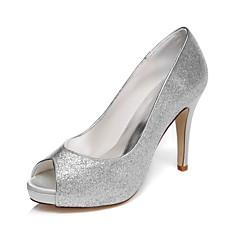 Women's Wedding Shoes Peep Toe / Platform Sandals Wedding / Party & Evening / Dress Silver / Champagne