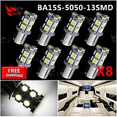 8x super jasné bílé BA15s 1.156 auto zadní řada na světelný signál 13 vedl smd žárovka 12V