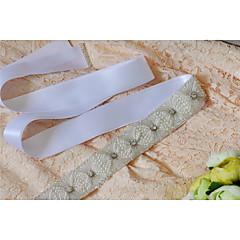 Satijn Huwelijk / Feest/Uitgaan / Dagelijks gebruik Sjerp-Sierstenen / Parels / Kristal / Strass Dames 98 ½ In (250Cm)Sierstenen / Parels