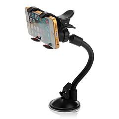 ziqiao 360 ° rotativos pára-brisas de pára-brisa do carro montar titular dupla clipe para o telefone gps