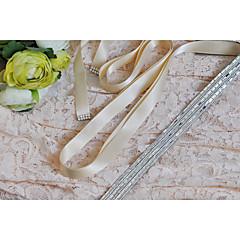Raso Matrimonio / Party/serata / Da giorno Fusciacca-Con lustrini / Con perline Da donna 250cm Con lustrini / Con perline