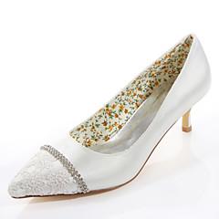Women's Spring / Summer / Fall Heels / Pointed Toe Silk Wedding / Party & Evening / Dress Stiletto Heel Crystal Ivory